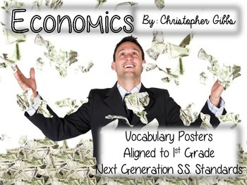 Economics Vocabulary Posters (K, 1, and Up)