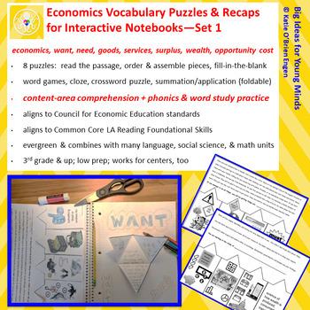 Economics Vocabulary Puzzles - SET 1