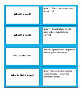 Economics Vocabulary Quiz Quiz Trade or matching cards
