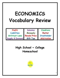 Economics Vocabulary Review for High School/College