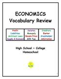 Economics Vocabulary Review for High School/College