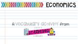 Economics Vocabulary Sort
