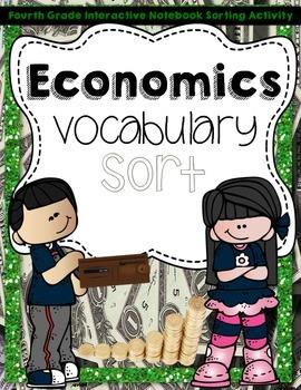 Economics Vocabulary Sort  Interactive Notebook Activity