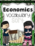 Economics Vocabulary Sort  Interactive Notebook Activity
