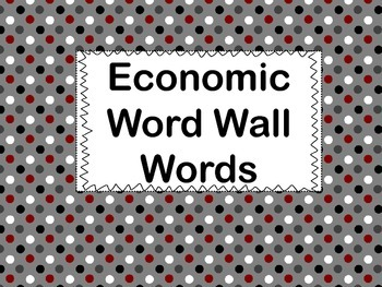 Economics Vocabulary Words