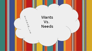 Economics-Wants Vs. Needs