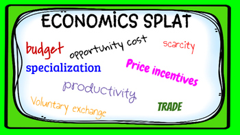 Economics Word SPLAT