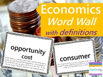 Economics Word Wall with Definitions