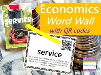 Economics Word Wall {with QR Codes}