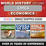 Economics and Civics and World History Mega Bundle