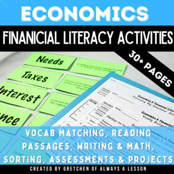 Economics and Financial Literacy Activities for Third Grade