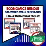 Economics and Free Enterprise Word Wall BUNDLE 536 Words