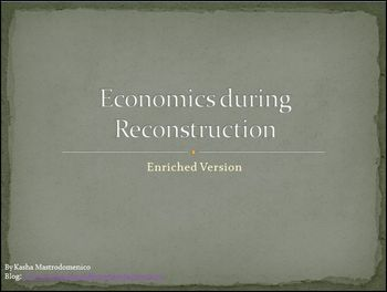 Economics during Reconstruction Differentiated Instruction PowerPoint