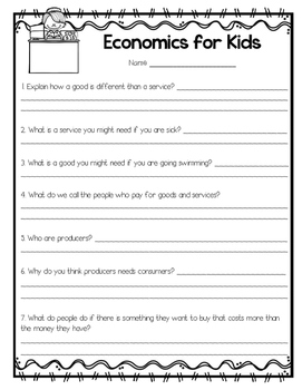 Economics for 1st and 2nd Graders!