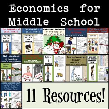 Economics for Middle School - 11 Product Bundle! - Save 30%