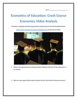 Economics of Education: Crash Course Economics- Video Anal