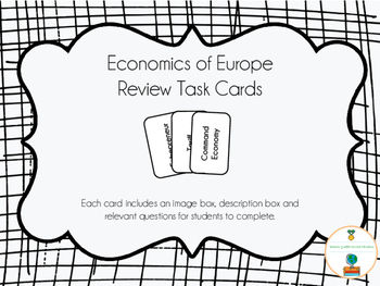 Economics of Europe Review Task Cards