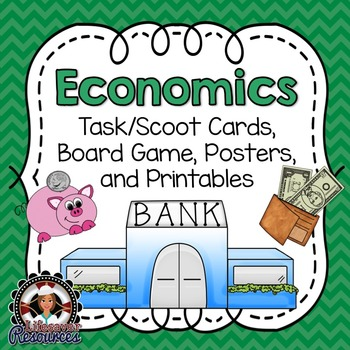Economics Game, Reading Passages with Questions, and Posters