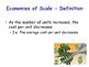 Economies of Scale - Economics - Internal & External Economies of Scale