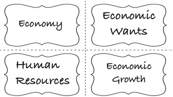 ECONOMY  Content Vocabulary - Social Studies Grade 4 - 5 I HAVE WHO HAS?