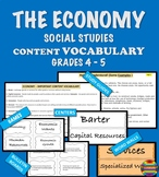 ECONOMY  Content Vocabulary - Social Studies Grade 4 - 5 I