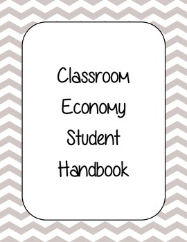 Classroom Economy Handbook Cover Pages