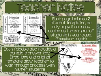 Economy Interactive Notebook Foldables UPPER GRADES