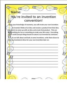 Economy Invention Project