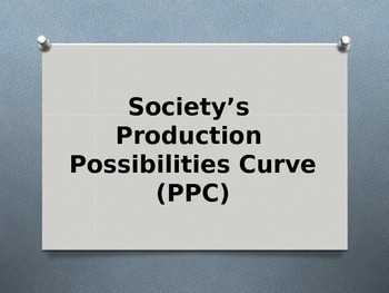 Economy: Society's - Production - Possibilities Curve- (PPC)
