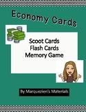 Economy Vocabulary Activities- Scoot, Flash Cards, Memory