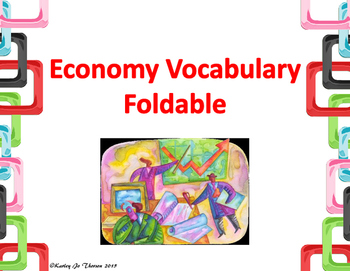 Economy Vocabulary Foldable