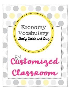 Economy Vocabulary Study Guide and Quiz