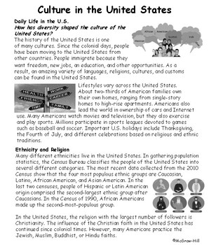 Economy and Culture in the U.S.