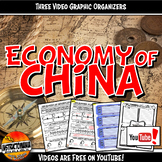 Economy of Ancient China YouTube Video Graphic Organizer Set Doodle Notes