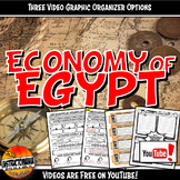 Economy of Ancient Egypt YouTube Video Graphic Organizer Set Doodle Notes