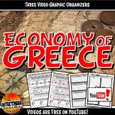 Economy of Ancient Greece YouTube Video Graphic Organizer Set Doodle Notes