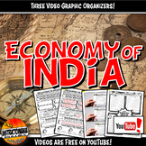 Economy of Ancient India YouTube Video Graphic Organizer Set Doodle Notes