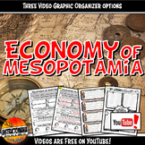 Economy of Ancient Mesopotamia YouTube Video Graphic Organizer Set Doodle Notes