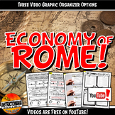 Economy of Ancient Rome YouTube Video Graphic Organizer Set Doodle Notes