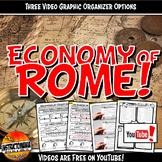 Economy of Ancient Rome YouTube Video Graphic Organizer No