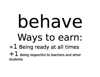 Economy/behavior system