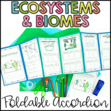 Ecosystems and Biomes Activity | Foldable Accordion (With Google Classroom)