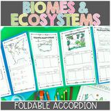 Ecosystems and Biomes Activity | Foldable Accordion Printable & Digital (Google)