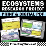 Ecosystems Task Cards, Earth Science 6th Grade 5th Grade