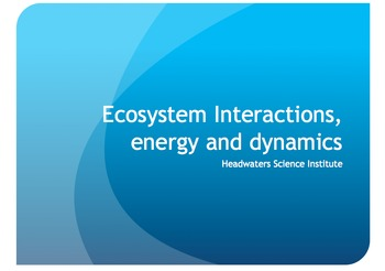 Ecosystem Background Powerpoint