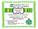 Ecosystem Booklet - Culminating Task for Ontario Grade 7 E