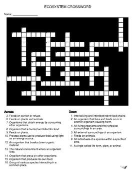 Ecosystem Crossword!