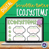 Ecosystem Digital Scribble Notes Freebie | Distance Learning