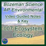 007 Ecosystem Ecology - Bozeman Science AP Environmental Guide & Key