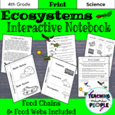 Ecosystems Interactive Notebook: Food Chains Food Webs   Science Notes